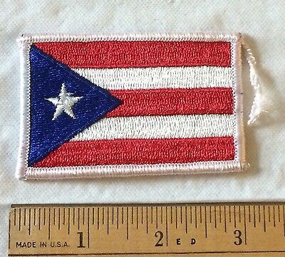 """Puerto Rico Flag Embroidered Patch Badge 3"""" Long"""
