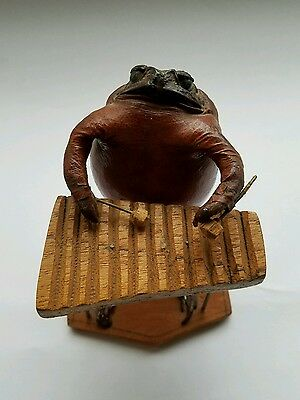 Vintage Taxidermy Frog Playing Xylophone