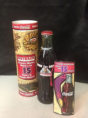 Coca Cola Bottle Outback 15 Years In Tube ** Rare**
