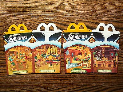 McDonald's 1985 Santa Claus The Movie Happy Meal Boxes