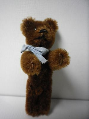 """3 1/2"""" Vintage Schuco Jointed Brown Teddy Bear"""