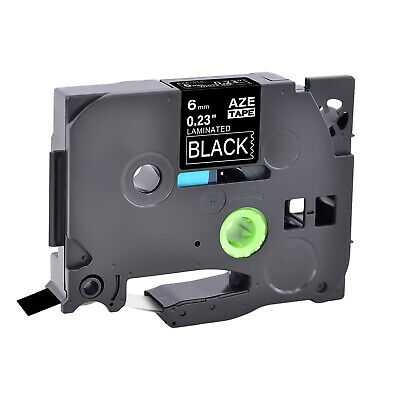 TZe-315 TZ-315 6mm White on Black Label Tape For Brother P-Touch PT-1700 1750