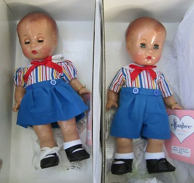 Effanbee Candy Kid Twins, 1997 reproduction - matching girl & boy dolls in boxes