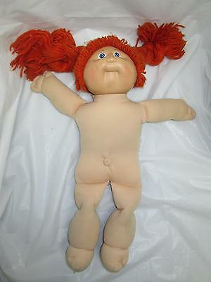 Vintage CABBAGE PATCH KID Doll 1982 COLECO RED Braid Pigtail HAIR BLUE EYES A