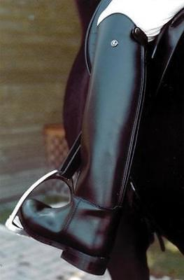 Rhinegold Olympic Long Leather Riding Boots-Size 6-Medium Width-Black-Free P&P