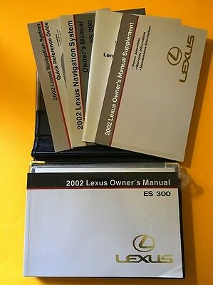 2002 Lexus ES300 Owners manual, 4 Book Set with original case