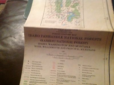 Idaho Panhandle National Forests 1981 Forest Visitors Map Estate Find
