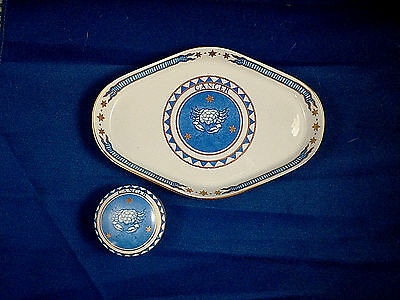 Mottahedeh Milestone Collectible Zodiac Cancer Trinket Tray & Lidded Box
