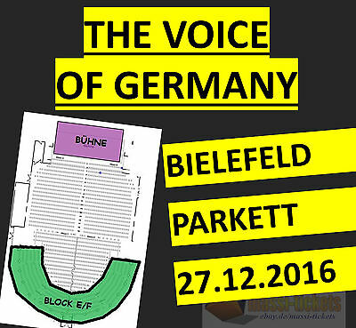 2x THE VOICE OF GERMANY LIVE IN CONCERT BIELEFELD TICKETS SITZPLÄTZE 27.12.2016