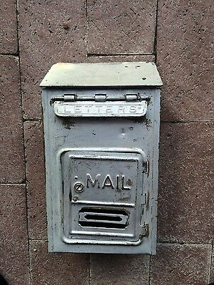 Vintage CORBIN Brass Porch Mailbox, Made in USA wall mounted