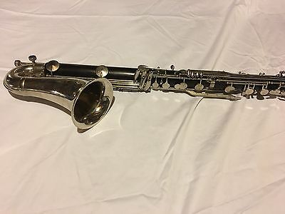 Awsome Condition Wooden Vintage noblet Bass Clarinet Serial 5535