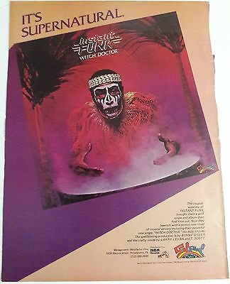 Music Ad Instant Funk Witch Doctor Hit Single Full Page Color Advert