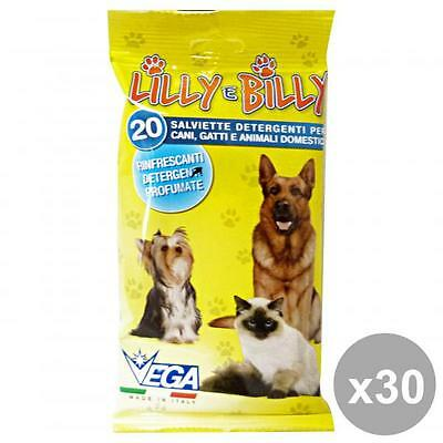 Set 30 VEGA Salviette DETER.ANIMALI * 20 Pezzi Products for animals