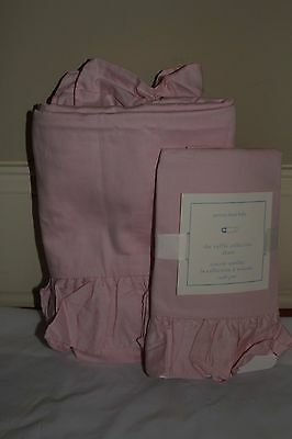New perfect Pottery Barn Kids ruffle collection pink toddler duvet cover & sham