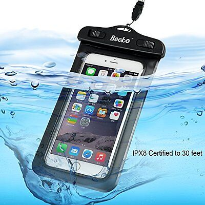 """Waterproof Case for 5.5"""" Mobile Phone Touch Responsive Universal Wallet Pouch"""