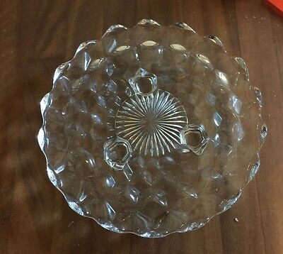 """Vintage Fostoria American Clear 3 Footed Candy Dish 8"""""""