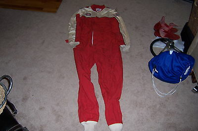Large BELL NOMEX III RACESTAR RACING SUIT ONE PIECE ANDRETTI SERIES