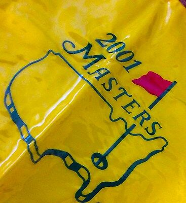 Tiger Woods Wins 2001 Masters Golf Flag Pin Flag NEW in Bag Old School Pro Shop