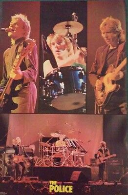 1980 The Police vintage original stock rock music band poster mint flat stored