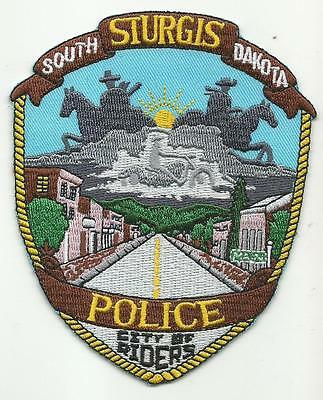 Sturgis SOUTH DAKOTA SD Police patch City of Riders motorcycle cowboys