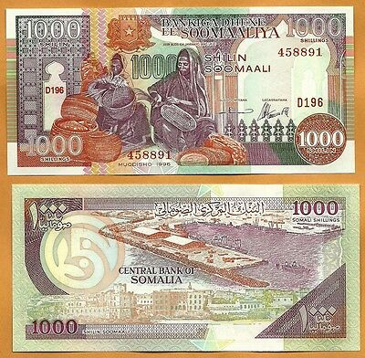Somalia 1996 GEM UNC 1000 Somali Shillings Banknote Paper Money Bill P-37b