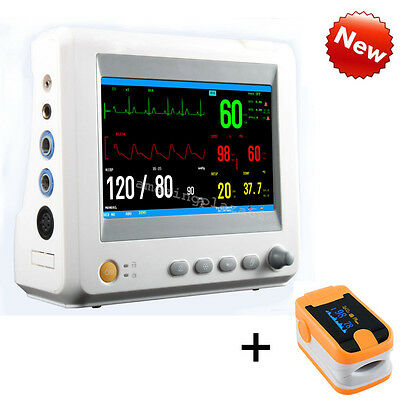6 Parameter ICU CCU Vital Sign Patient Monitor ECG NIBP RESP TEMP SPO2 fast ship