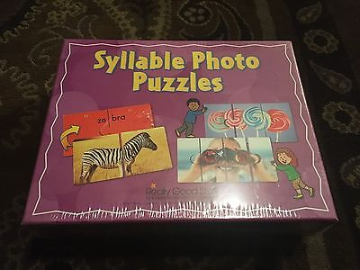 Syllable Photo Puzzles by Really Good Stuff 2013 New!  24 puzzles Homeschool