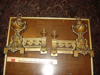 Vintage Set Of Victorian Andiron Ends As Shown