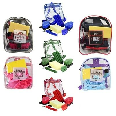 Grooming set Janitorial supplies for Horses 6-piece in beautiful Backpack,