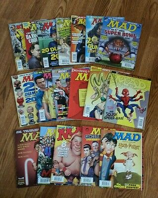 Mad Magazine Lot 18 Issues