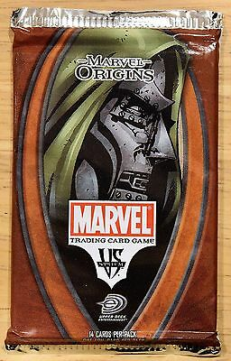 Marvel Origins Trading Card Game TCG Booster Pack 14 cards BRAND NEW SEALED!