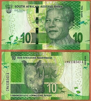 South Africa (2012-2014) Very Good 10 Rand Banknote Paper Bill P-133(2)