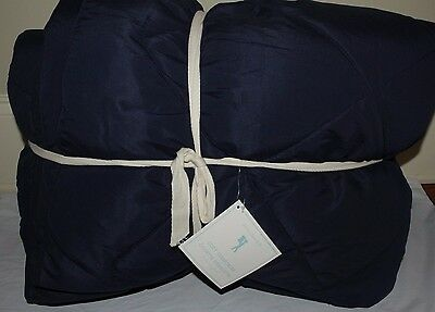 New Pottery Barn Kids Cozy Comforter quilt navy blue twin