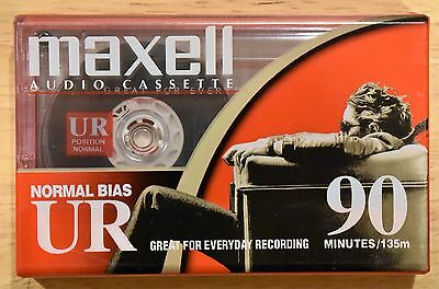 Maxell Audio Cassette Normal Bias UR 90 minutes blank BRAND NEW FACTORY SEALED!