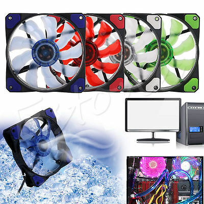3-Pin/4-Pin PWM PC Computer Case CPU Cooler Cooling Fan with LED Light 120mm