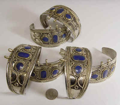 6 OLD LAPIS LAZULI TURKMAN TRIBAL BRACELETS LOT BELLYDANCE close out sale FV083