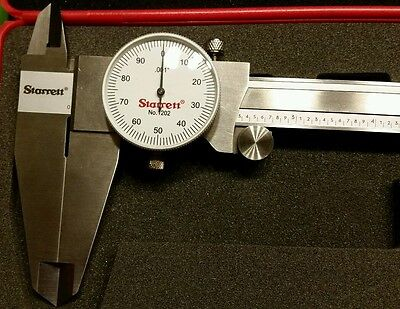 "STARRETT 12"" Dial Caliper No. 1202 ***VERY NICE & CLEAN*** Almost perfect shape!"