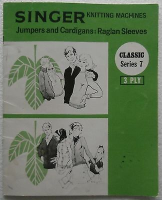 SINGER KNITTING MACHINES PATTERN BOOK Classic Series 7 - JUMPERS & CARDIGANS