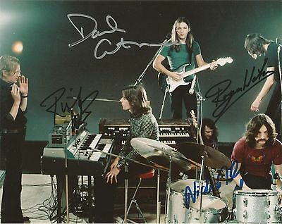 Pink Floyd Signed 8X10 Roger Waters David Gilmour Nick Mason Richard Wright Wall