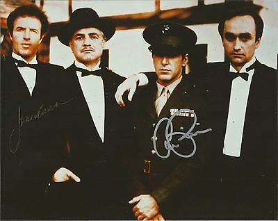 The Godfather Al Pacino James Caan Signed 8X10 Michael Sonny Corleone Family