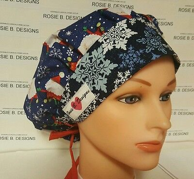 Christmas Time /bouffant / Scrub / Medical Surgical Ponytail / Cap