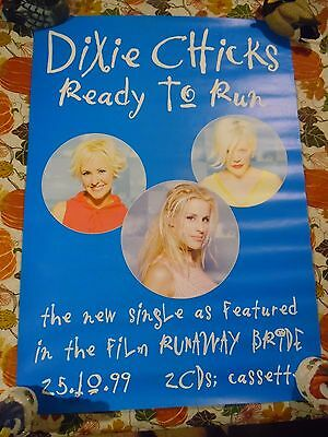 "Dixie Chicks ""ready To Run - From The Film, Runaway Bride"" 20 X 28 Music Poster"