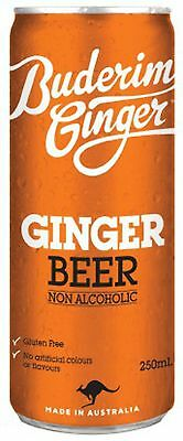 Buderim Ginger Beer 250ml Can pack of 4 Non Alcoholic