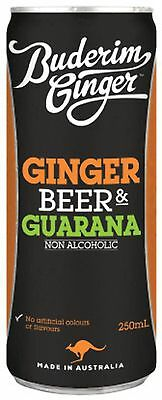 Buderim Ginger Beer & Guarana 250ml Can pack of 4 Non Alcoholic