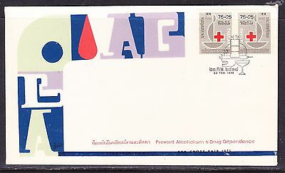 Thailand 1975 Red Cross Drug & Alcoholism First Day Cover - Unaddressed