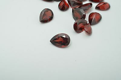 Natural Red Garnet 9x7mm Pear Cut 2 Pieces Top Quality Loose Gemstone Lot Sale