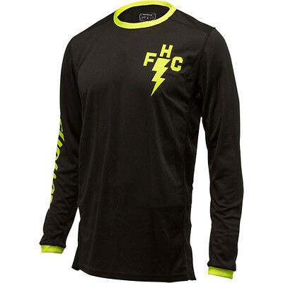 NEW Fasthouse MX Gear L1 FH Crew Hi Vis Yellow Black Vented Motocross Jersey