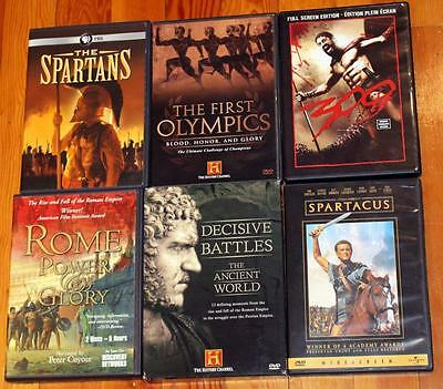 Huge Lot Ancient Greece Rome Documentary DVD Spartans Decisive Battles Olympics!