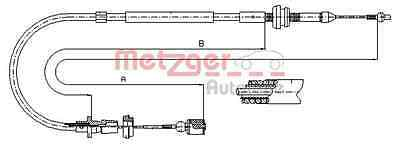 METZGER Throttle cable - COFLE 10.0861