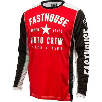 NEW Fasthouse MX Gear L1 Speed Style Red Black Vented Motocross Jersey